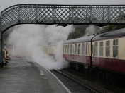 A wet Sunbday at Weybourne Station