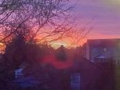 The morning sunrise