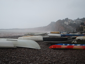 Misty Winter Budleigh Salterton Seafront