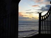 Winter Sunset Clock Tower Sidmouth