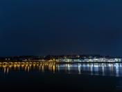 bideford bridge and christmas lights