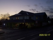 Beehive Community Centre after dusk