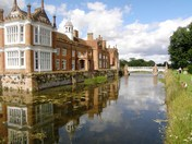 Helmingham Hall  reflected in the moat.(challenge)