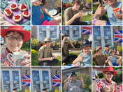 Case family tea and scones for VE day 2020