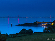 The Severn bridges at night