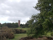 Passing Freston Tower on our exercise walk