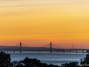 Severn bridges at sunrise
