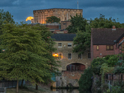 Strawberry Moon Rise over Norwich Castle