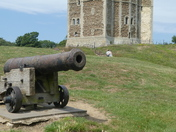 One of the cannons at Orford castle