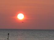 Sunset flypast .