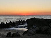 Sunrise on the North Denes beach in Lowestoft