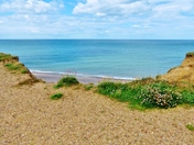view from the cliffs at weybourne