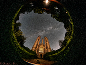 The Milky Way arching over the St Michael the Archangel, Booton