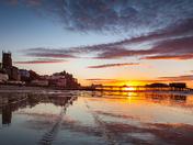 Summer sunset over Cromer Pier