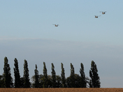RAF Chinook flight returning to Wattisham airfield.