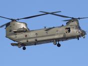 Chinook returning to Wattisham for refueling.