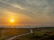Sunrise at Great Yarmouth, Haven Seashore.