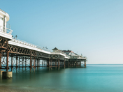 Clear sky at Cromer pier