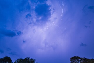 Lightning over Worle