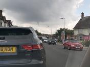 Tornado forming over London