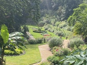 Beautiful plantation gardens in the rain