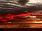 Bloodshot Stormy Sunset…