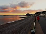 Evening stroll at sunset