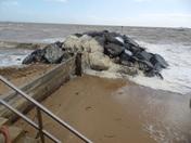 Rough Sea at Felixstowe.