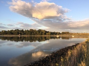 Rising cloud over the River Deben