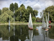 Model yacht racing in Woodbridge