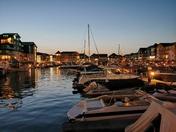 Exmouth Marina at sundown