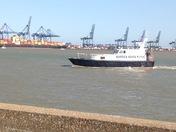 Shotley Marina and view to Felixstowe