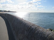 Sun shines on the sea, in Exmouth