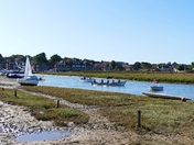 MAKING THE MOST OF A HIGH TIDE AT BLAKENEY