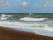 CHOPPY SEAS AT WEYBOURNE BEACH