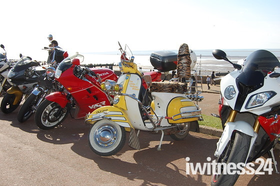 Bikes on Hunstanton beach front