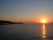 sunset at cromer