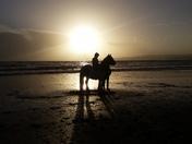 Horse bareback on Orcambe Point