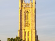 Sunny church tower