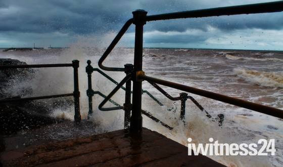Summer Storm at Jacob's Ladder, Sidmouth