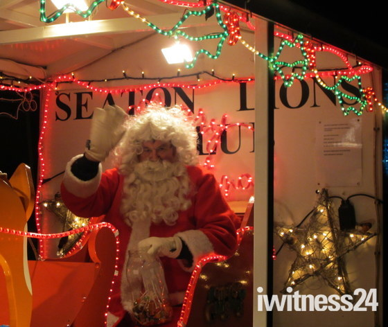 Father Christmas comes to Seaton