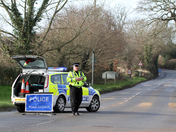 Road closure in Ottery