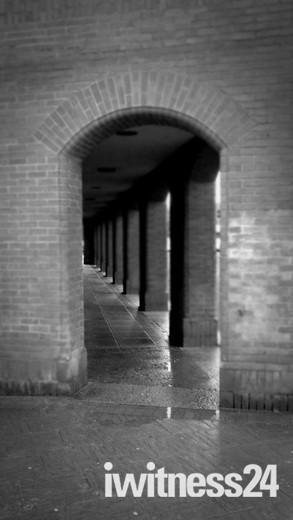 Barnstaple Library in the rain