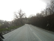 Hail storm covers A399 road to South Molton