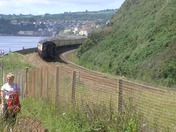 The Brittania 7000 (Torbay Express) Passing through Dawlish Warren