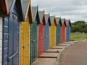 Beach Huts in Dawlish Warren