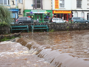 A fast flowing river in Dawlish, Devon