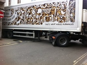 Lorry stuck in Barnstaple