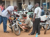 Bideford AA man at work in Uganda