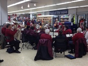 Bideford town band in Barnstaple Sainsbury's